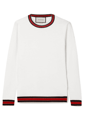 Gucci - Striped Wool Sweater - Ivory