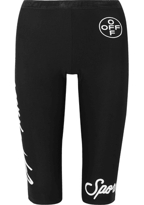 Off-White - Printed Stretch Leggings - Black