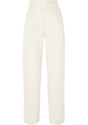 Off-White - Belted Cotton Straight-leg Pants - IT36
