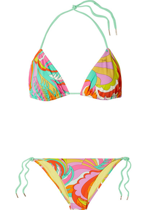 Emilio Pucci - Printed Triangle Bikini - Orange