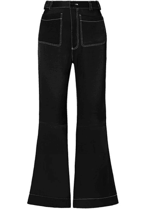 See By Chloé - Satin-twill Flared Pants - Black