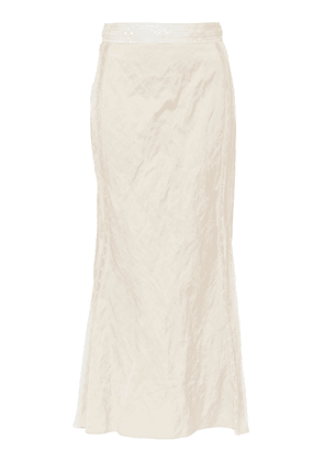 Brock Collection Omission Fitted Taffeta Skirt