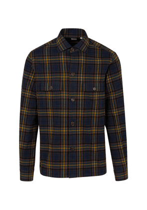 100Hands Navy, Burgundy and Yellow Japanese Flannel Check Over-Shirt