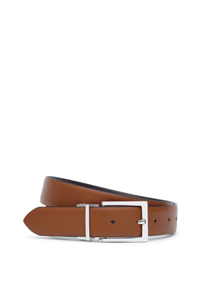 Reiss Ricky - Reversible Leather Belt in Tan/Darkbrown, Mens, Size 32