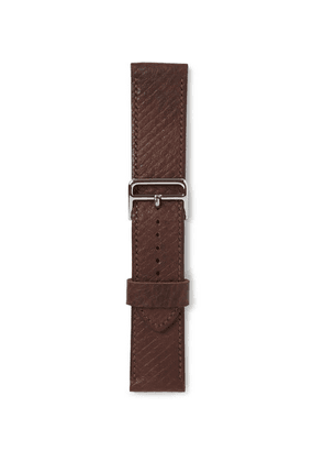 George Cleverley - 1786 Russian Hide Vegetable-tanned Cross-grain Leather Watch Strap - Brown