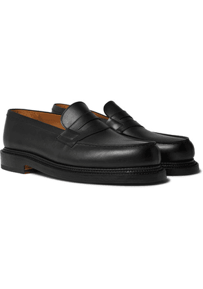 J.M. Weston - 180 The Moccasin Leather Loafers - Black