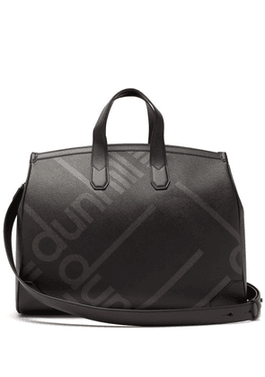 Dunhill - Logo Print Faux Leather Weekend Bag - Mens - Black
