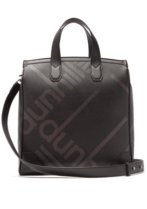 Dunhill - Logo Print Faux Leather Tote - Mens - Black