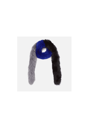 5f11d650d4f free shipping. BKLYN Women s Fox Fur Scarf - Electric Blue Black Grey