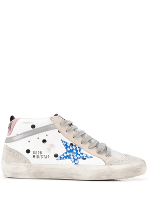 Golden Goose Deluxe Brand mid star patch sneakers - White