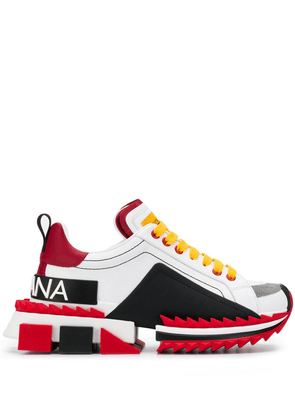 Dolce & Gabbana paneled sneakers - Red