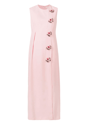 Delpozo embellished long dress - Pink