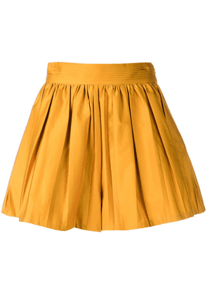 Amur pleated wide shorts - Yellow