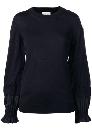 Moncler layered sleeves jumper - Blue