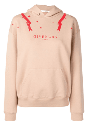 Givenchy front logo hoodie - Neutrals