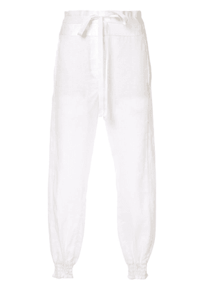 Ann Demeulemeester casual linen trousers - White