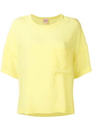 Nude oversized T-shirt - Yellow