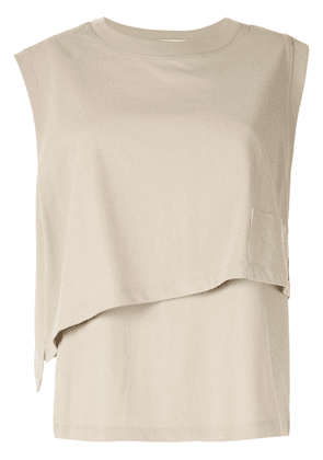 T By Alexander Wang High twist layered top - Metallic