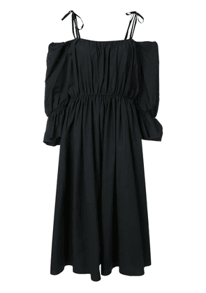 Goen.J voluminous shape gathered dress - Black