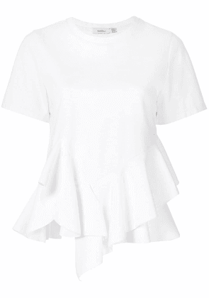 Goen.J ruffled top - White