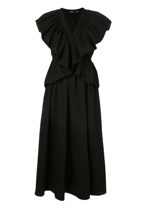 Goen.J ruffled midi dress - Black