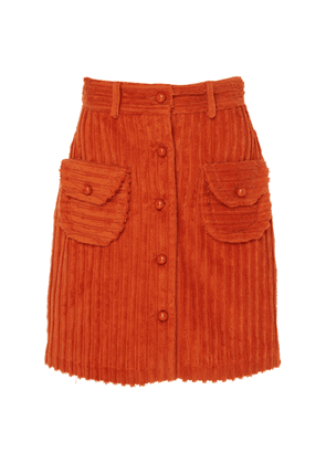 Anna Sui Cozy Cords Button-Front Skirt