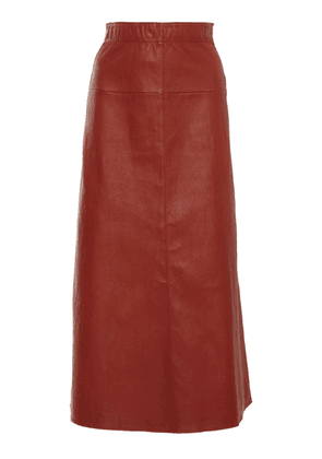 Boontheshop Collection Leather A-Line Skirt