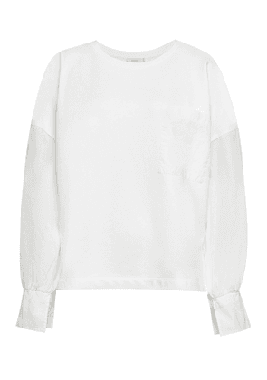 Closed Cotton Long Sleeved Top