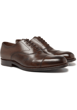 Grenson - Lucas Cap-toe Leather Oxford Shoes - Brown