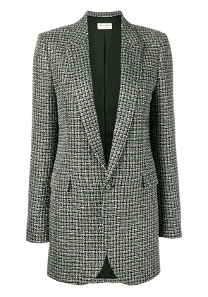 Saint Laurent checked blazer - Black