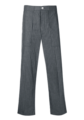 Thom Browne Cargo Pocket Pinstripe Trouser - Blue