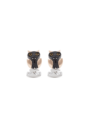 Moveable owl cufflinks