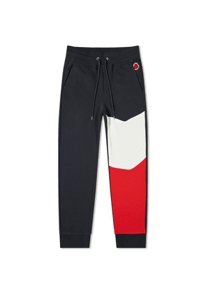 Moncler Tricolour Panel Sweat Pant Navy, Red & White