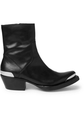 Vetements - Metal-tipped Leather Boots - Black