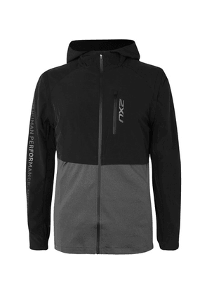 2XU - Ghst Panelled Stretch-shell And Jersey Jacket With Detachable Arms - Black