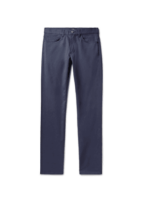 Theory - Haydin Slim-fit Stretch Cotton-twill Trousers - Blue