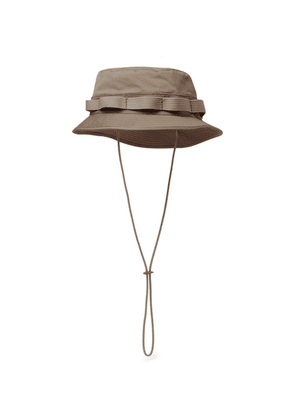 nonnative - + Liberty Of London Webbing-trimmed Cotton And Linen-blend Twill Bucket Hat - Beige