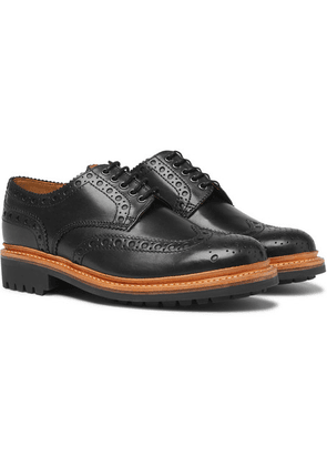 Grenson - Archie Leather Wingtip Brogues - Black