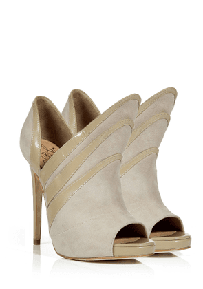 Alejandro Ingelmo Sand Suede Triple Layered Booties