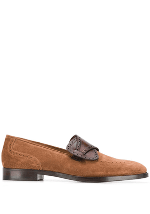 Edhen Milano front panel detail loafers - Brown