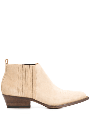 Buttero low-heel ankle boots - Neutrals
