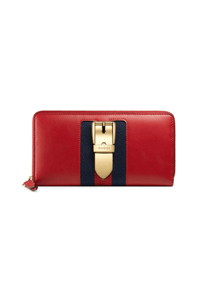 294d7f6d670471 Gucci Sylvie leather continental wallet | Black | MILANSTYLE.COM