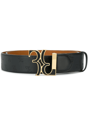 Billionaire logo plaque belt - Black