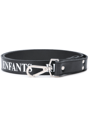 Enfants Riches Déprimés logo print belt - Black