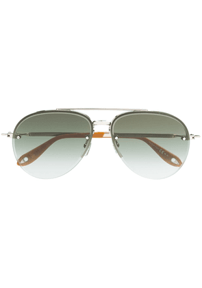 Givenchy Eyewear metal aviator sunglasses - Silver