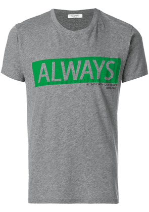 Valentino always slogan T-shirt - Grey