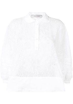 Valentino broderie anglaise blouse - White