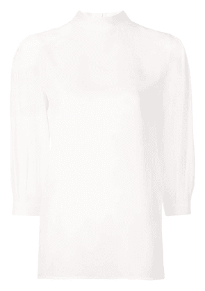 Givenchy semi-sheer fluid blouse - White