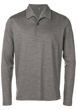 Caruso knitted polo shirt - Grey