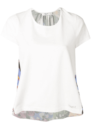 Blugirl floral panel T-shirt - White